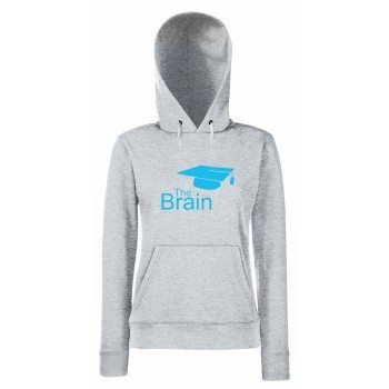 The Brain - Damen Hoodie - grau-blau