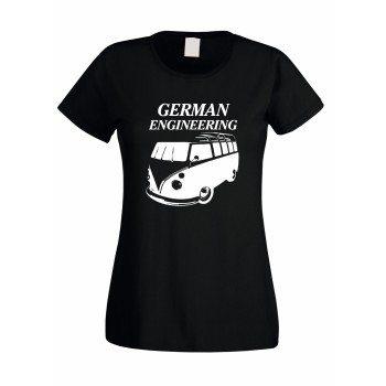 German Engineering - Damen T-Shirt - schwarz-weiß