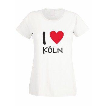 I Love Köln - Damen T-Shirt - weiß
