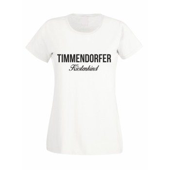 Timmendorfer Küstenkind - Damen T-Shirt - weiß