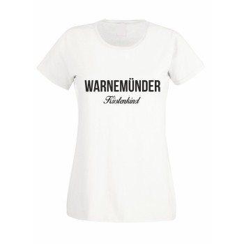 Warnemünder Küstenkind - Damen T-Shirt - weiß