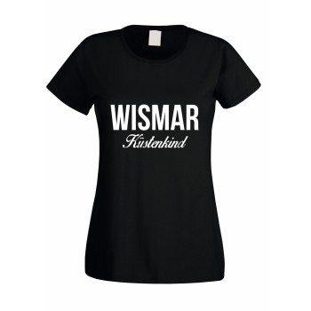 Wismar Küstenkind - Damen T-Shirt - schwarz