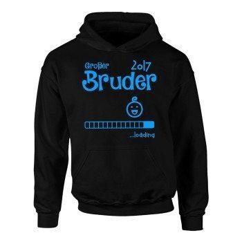 Großer Bruder 2017 loading - Kinder Hoodie - schwarz