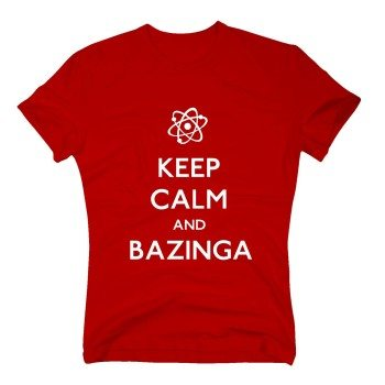 Keep calm and bazinga - Herren T-Shirt - rot