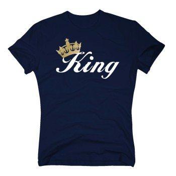 King - Herren T-Shirt - dunkelblau