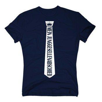 Mein Junggesellenabschied - Herren T-Shirt mit Krawattenoptik - dunkelblau