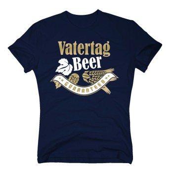 Vatertag - Beer Guaranteed - Herren T-Shirt - dunkelblau