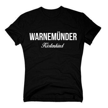 Warnemünder Küstenkind - Herren T-Shirt - schwarz