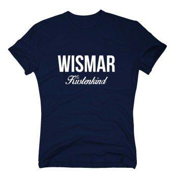 Wismar Küstenkind - Herren T-Shirt - dunkelblau