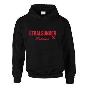 Stralsund Küstenkind - Kinder Hoodie - schwarz-rot