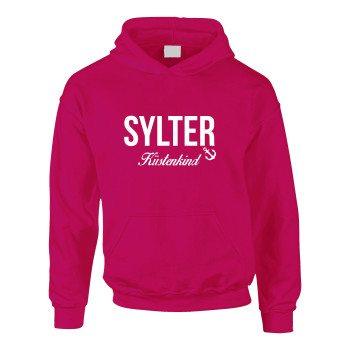 Sylter Küstenkind - Kinder Hoodie - pink-weiß