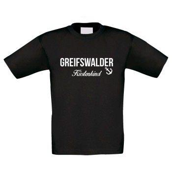 Greifswalder Küstenkind - Kinder T-Shirt - schwarz-weiß