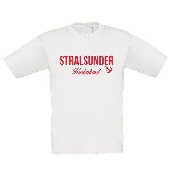 Stralsunder Küstenkind - Kinder T-Shirt - weiß-rot