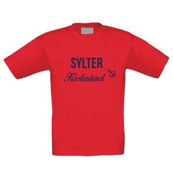 Sylter Küstenkind - Kinder T-Shirt - rot-dunkelblau
