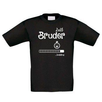 Bruder 2015 loading - Kinder T-Shirt - schwarz