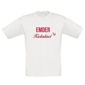 Emder Küstenkind - Kinder T-Shirt - weiß-rot