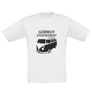 German Engineering - Kinder T-Shirt mit Bulli - weiß