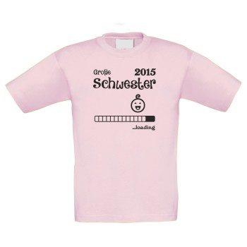 Große Schwester loading 2015 - Kinder T-Shirt - rosa
