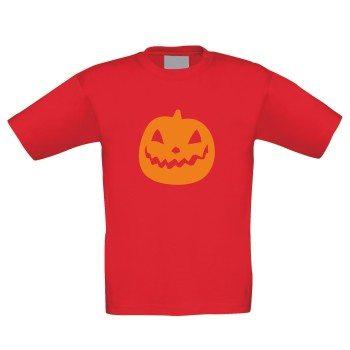 Kinder T-Shirt mit Kürbis - rot