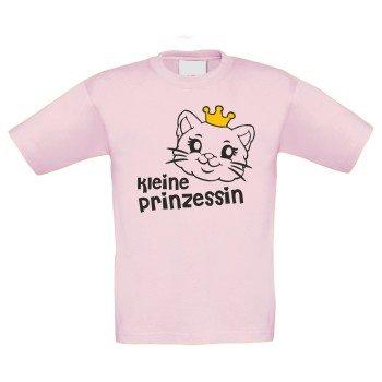 Kleine Prinzessin - Kinder T-Shirt mit Katzengesicht - rosa