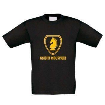 Knight Industries - Kinder T-Shirt - schwarz-gelb