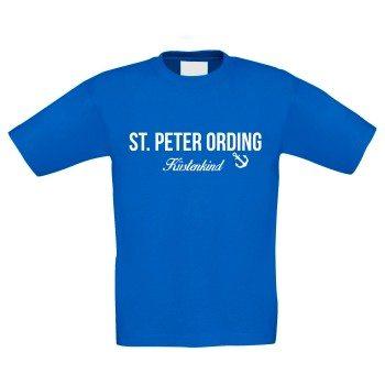 St. Peter Ording Küstenkind - Kinder T-Shirt - blau-weiß