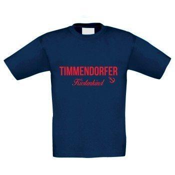 Timmendorfer Küstenkind - Kinder T-Shirt - dunkelblau-rot