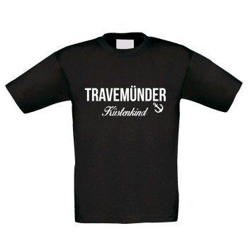 Travemünder Küstenkind - Kinder T-Shirt - schwarz-weiß