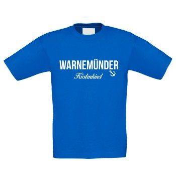 Warnemünder Küstenkind - Kinder T-Shirt - blau-weiß