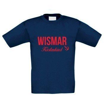 Wismar Küstenkind - Kinder T-Shirt - dunkelblau-rot