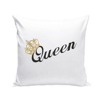 Queen - Dekokissen - weiß-schwarz