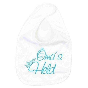 Omas kleiner Held - Baby Lätzchen - weiß