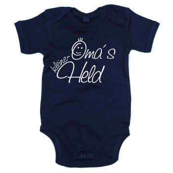 Omas kleiner Held - Baby Body - dunkelblau