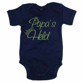 Papas kleiner Held - Baby Body - dunkelblau