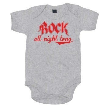 Rock all night long - Baby Body - grau