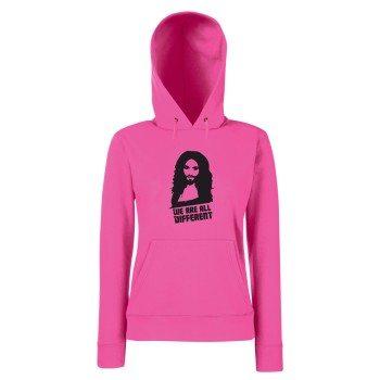 We are all Different - Damen Hoodie mit Conchita Wurst - pink