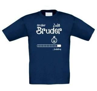 Kinder T-Shirt - Großer Bruder 2018 ...loading