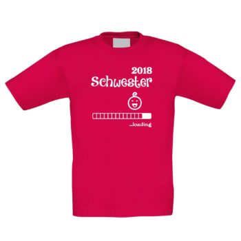 Kinder T-Shirt - Schwester 2018 ...loading