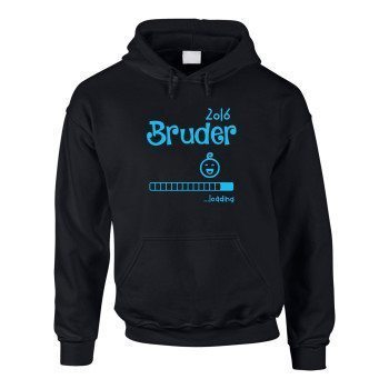 Bruder 2016 loading - Kinder Hoodie - schwarz
