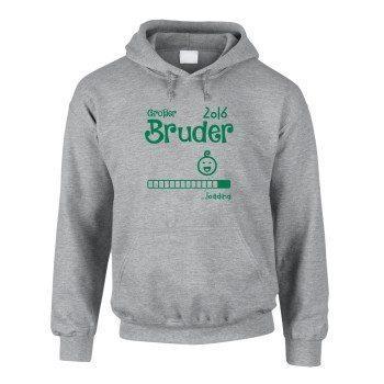 Grpßer Bruder 2016 loading - Kinder Hoodie - grau