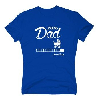 2016 Dad loading - Herren T-Shirt- blau