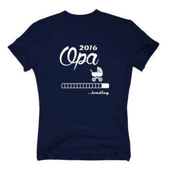 Opa 2016 loading - Herren T-Shirt- dunkelblau