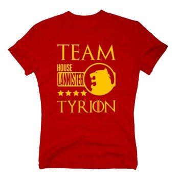 Team Tyrion - House Lannister - Herren T-Shirt - rot