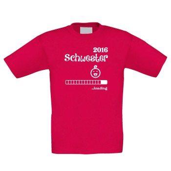 Schwester 2016 loading - Kinder T-Shirt - rot