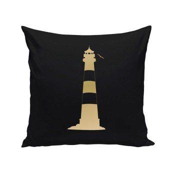 Leuchtturm - Dekokissen - schwarz