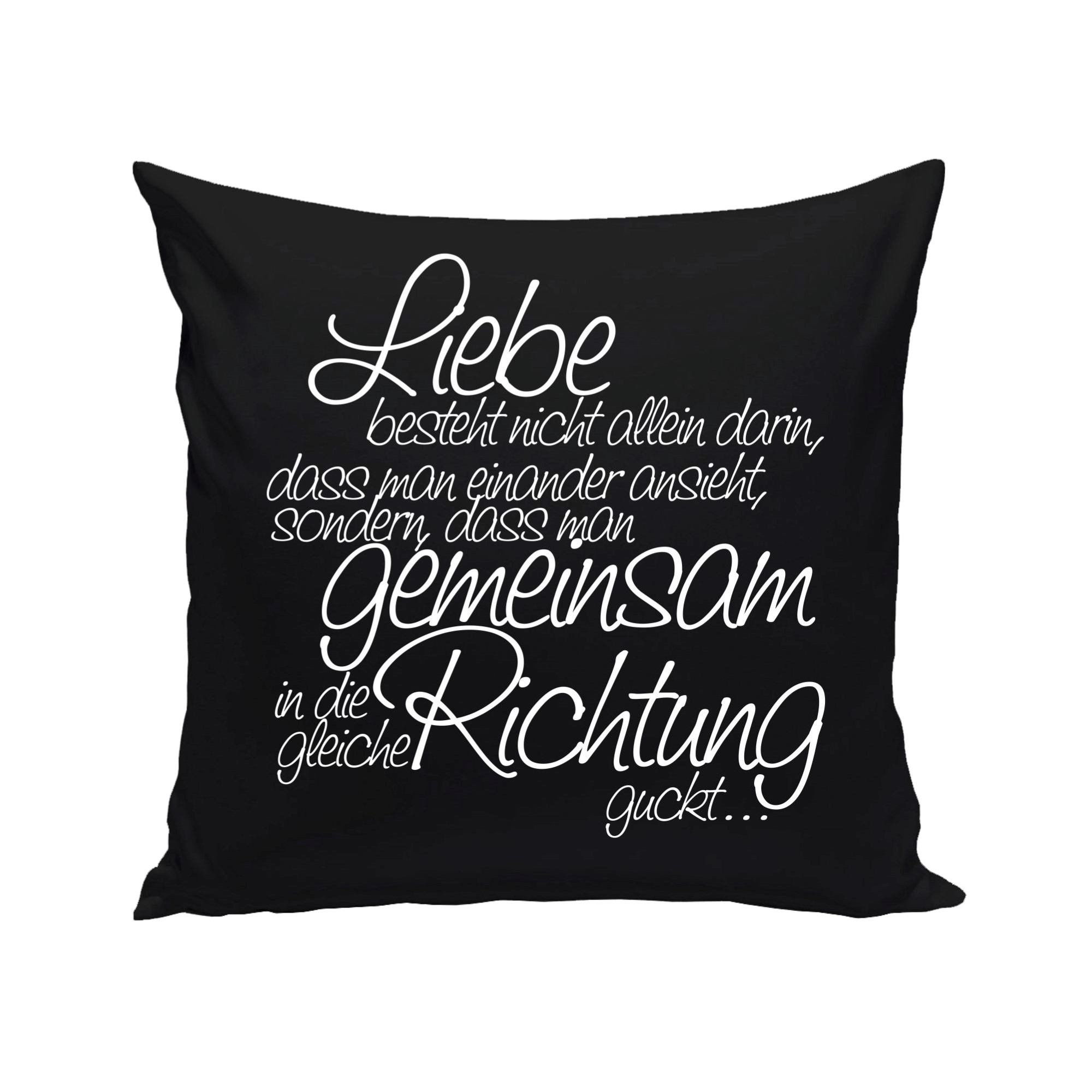 dekokissen mit f llung liebe besteht nicht allein t shirt onlineshop shirt department. Black Bedroom Furniture Sets. Home Design Ideas