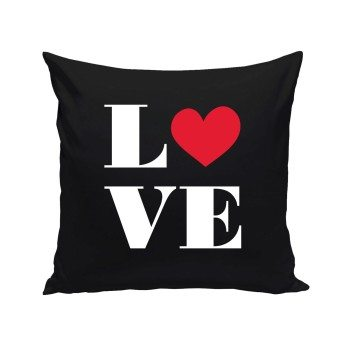 Love - Dekokissen - schwarz
