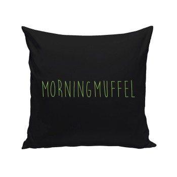 Morning Muffel - Dekokissen - schwarz
