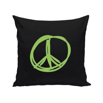 Peacezeichen - Dekokissen - schwarz