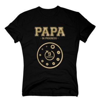 Papa in Progress - Herren T-Shirt - schwarz